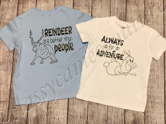 KIDS - Sven and Olaf Frozen Tees