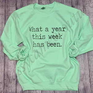 ADULTS - What a year this week has been unisex sweatshirt