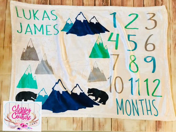Mountains Milestone Blanket