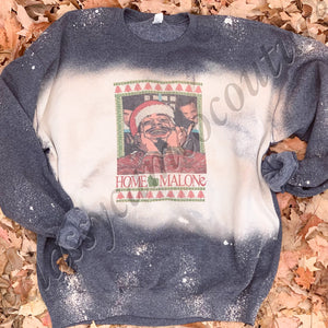 ADULTS - Home Malone bleached sweatshirt