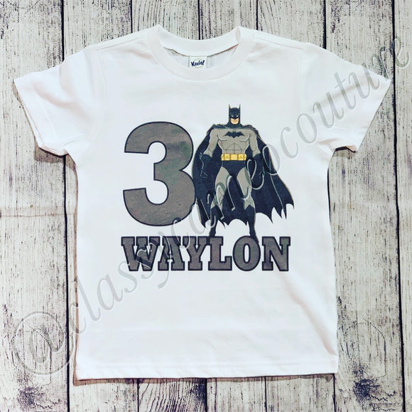 KIDS - Custom Batman Birthday Shirt