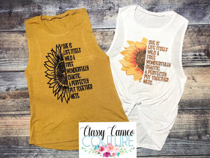 ADULTS - She is Life Itself Sunflower 🌻 Muscle Tanks / Tees