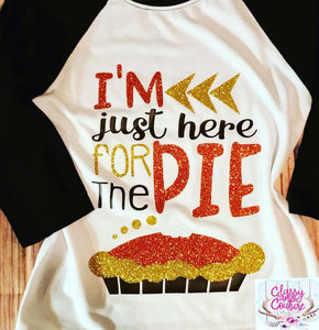 KIDS - I'm just here for the pie baseball tee