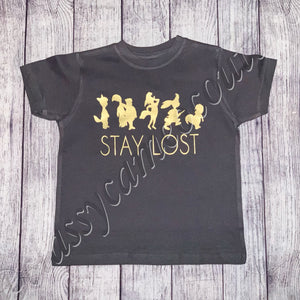 KIDS & ADULTS - Stay Lost Peter Pan tee