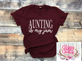 ADULTS - Aunting is my Jam V-Neck Tee