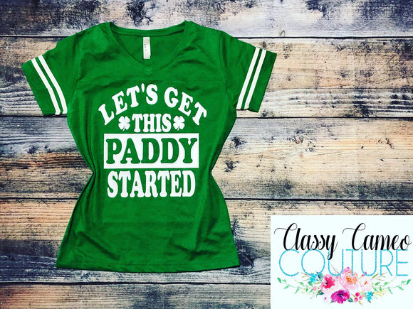 Let's Get This Paddy Started Football Jersey Tee