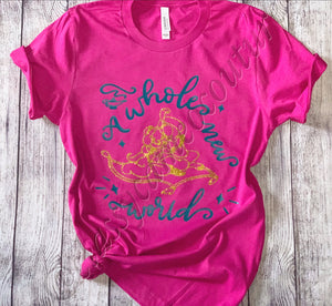KIDS & ADULTS - A Whole New World Disney Tee