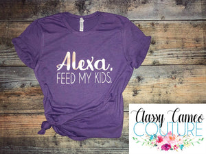 ADULTS - Alexa, feed my kids Roundneck Tee