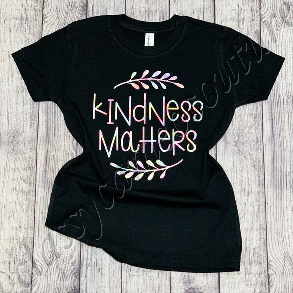KIDS & ADULTS - Kindness Matters Rainbow Tee