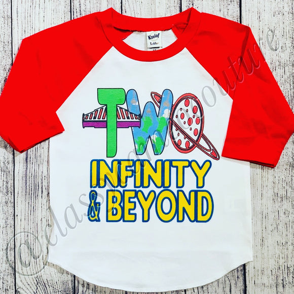 KIDS - TWO infinity and beyond Toy Story Birthday Shirt