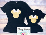 KIDS & ADULTS - Leopard Print Mickey / Minnie Roundneck Tee