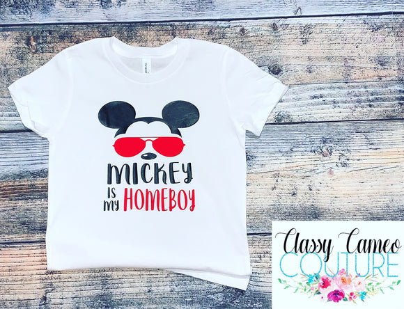 KIDS & ADULTS - Mickey is my Homeboy Disney Tee