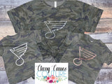 Kids Vintage Camo STL Blues Tee
