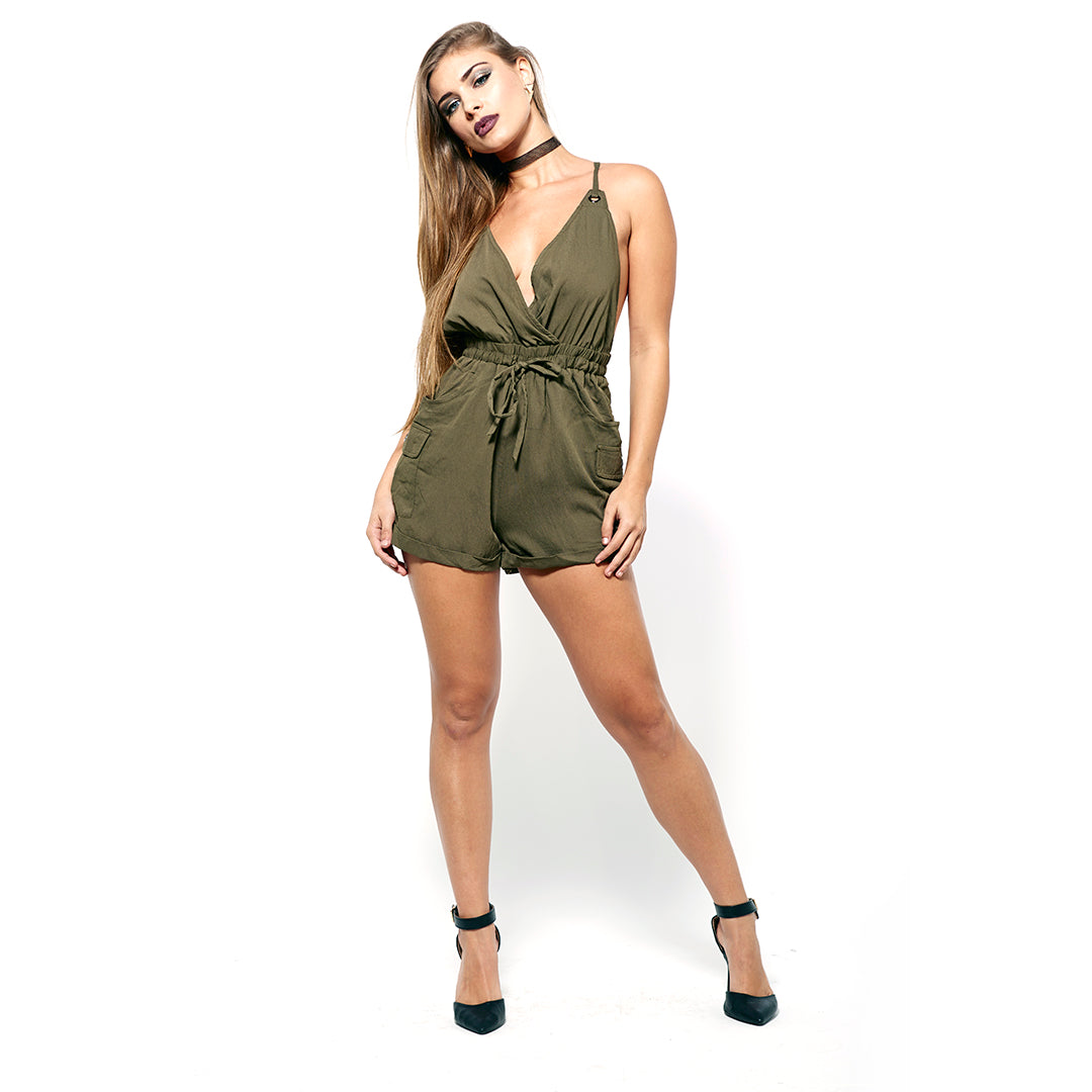 Criss Cross Back Romper-Rompers-Shopmissego