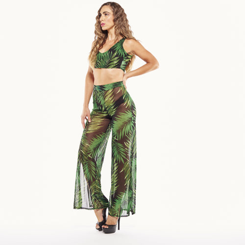 Leaf Print Pant Set-Sets-Shopmissego