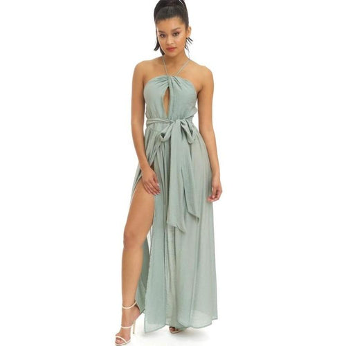 Mint Maxi Dress-Dresses-Shopmissego