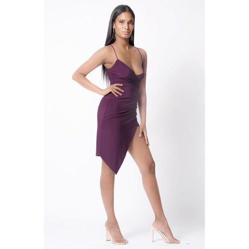 SPAGHETTI STRAPS SURPLICE DRESS