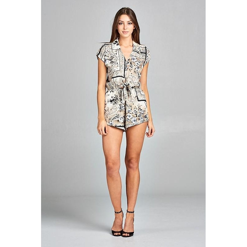 Printed Floral Romper-Rompers-Shopmissego