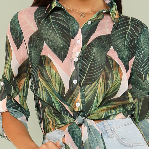 Boho Tropical Print Top