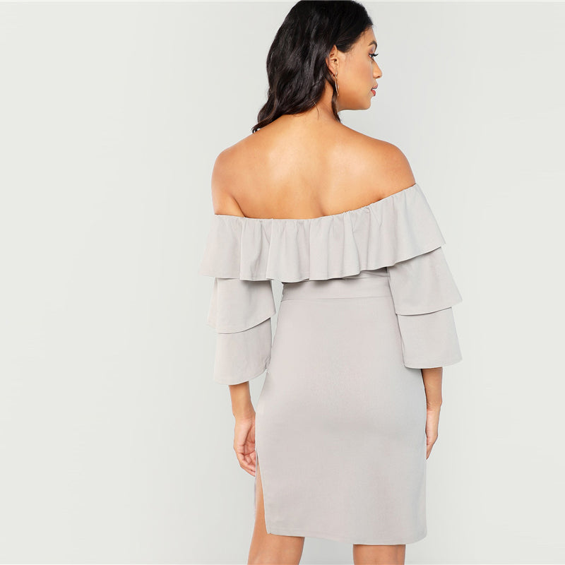 Layered Ruffle Trim Dress