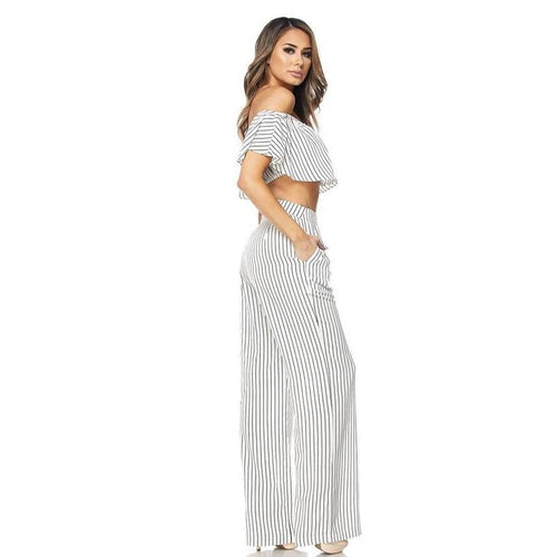 Stripe Ruffle Pant Set-Sets-Shopmissego
