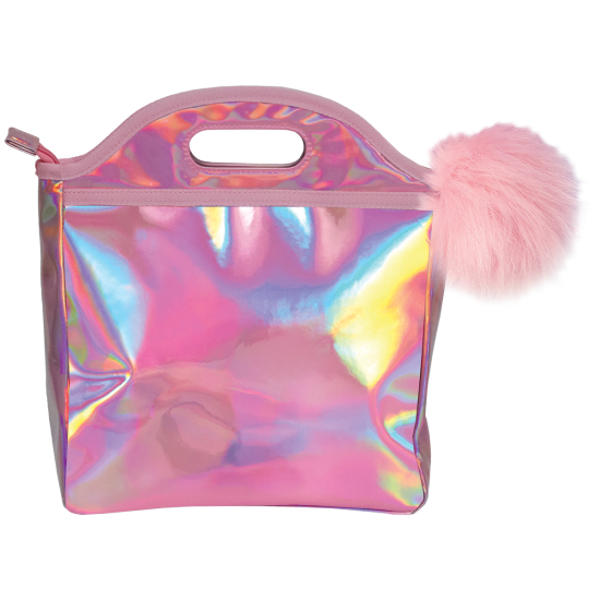 Pink Holographic Lunch Tote