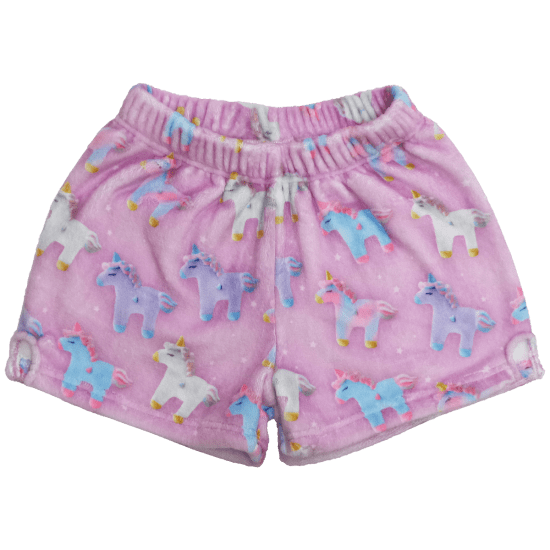 Unicorns and Stars Plush Shorts