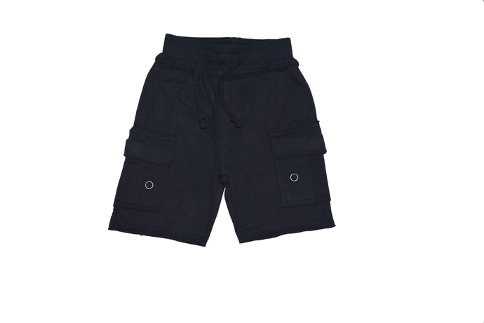 Solid Cargo Shorts - Navy
