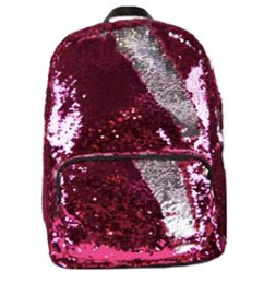 Sequin Backpack - Pink/Silver