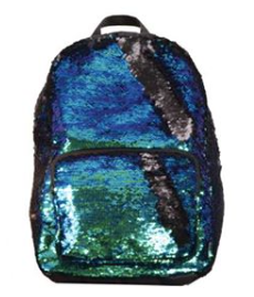 Sequin Backpack - Mermaid / Black