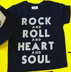 Rock and Roll and Heart and Soul Black T-Shirt