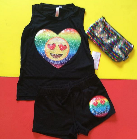 Reversible Sequin Emoji Tank
