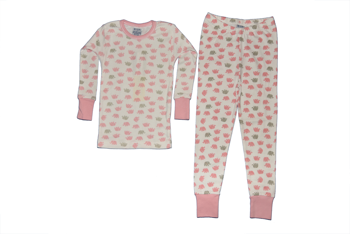 Girls 2-piece Elephant Pajama