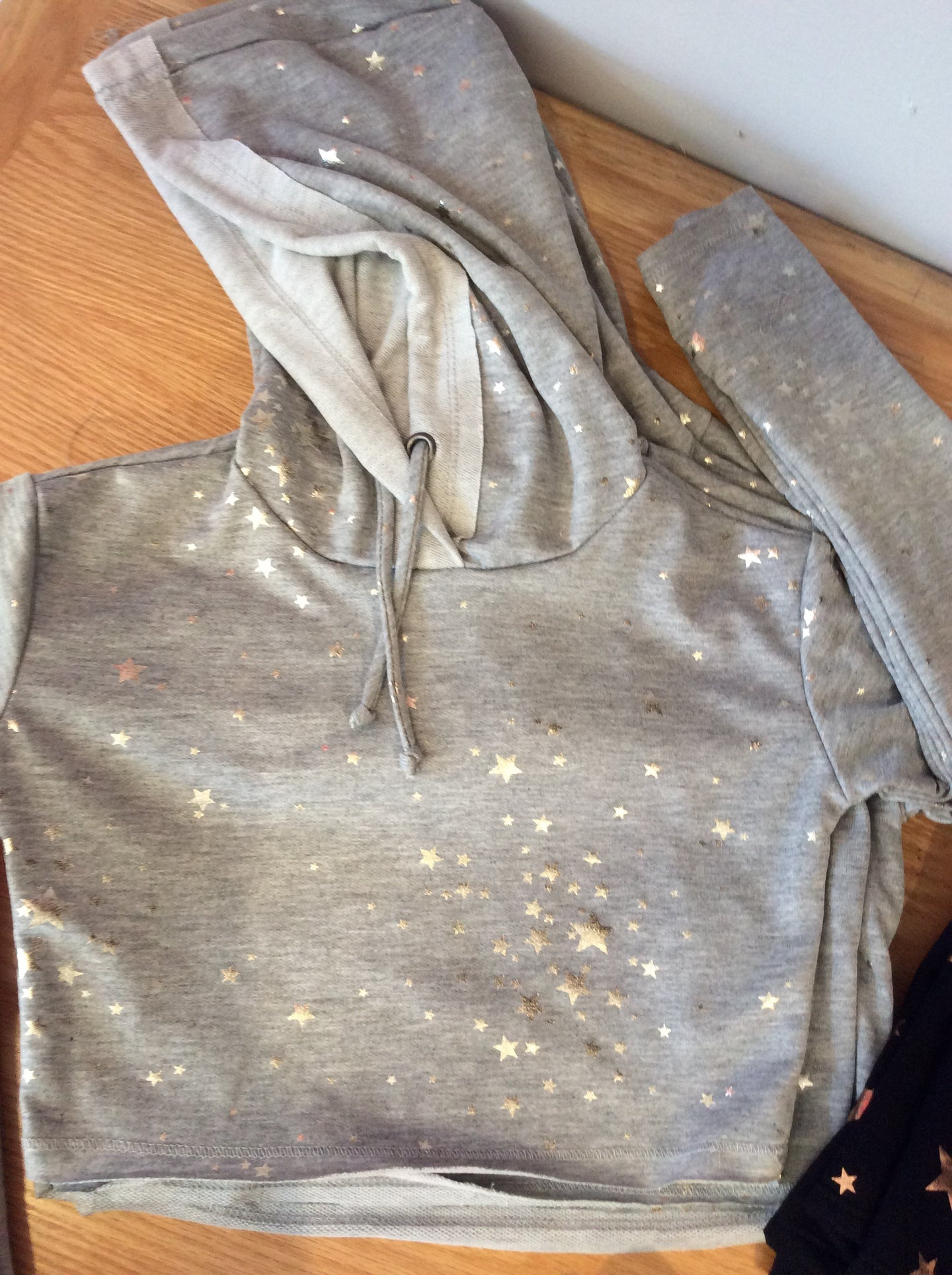 Grey Hoodie with silver stars