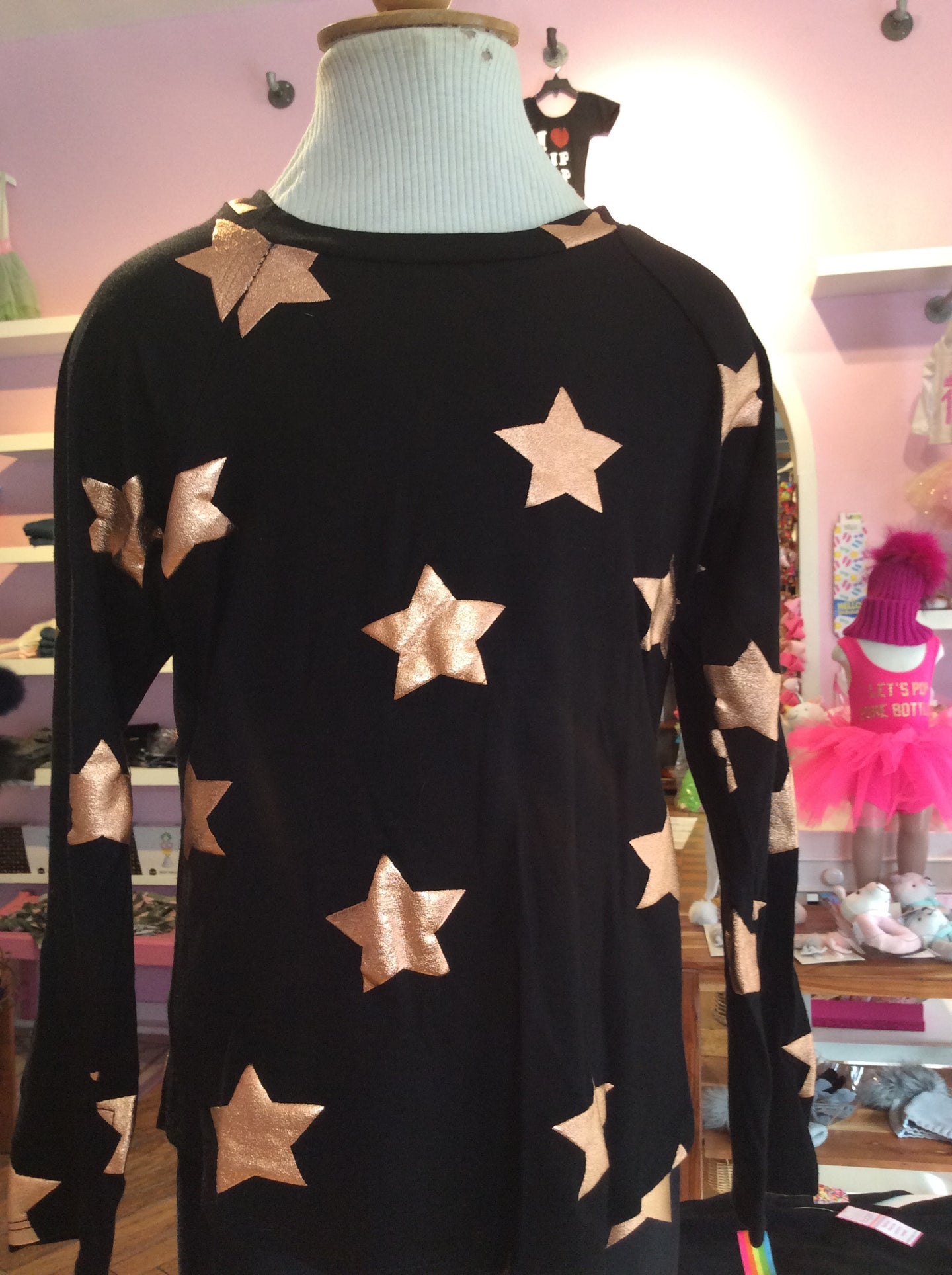 Black top with copper stars