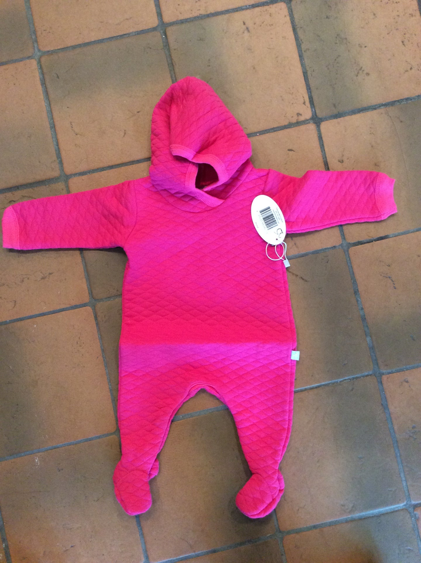 Hot Pink Quilted Onsie with Snaps