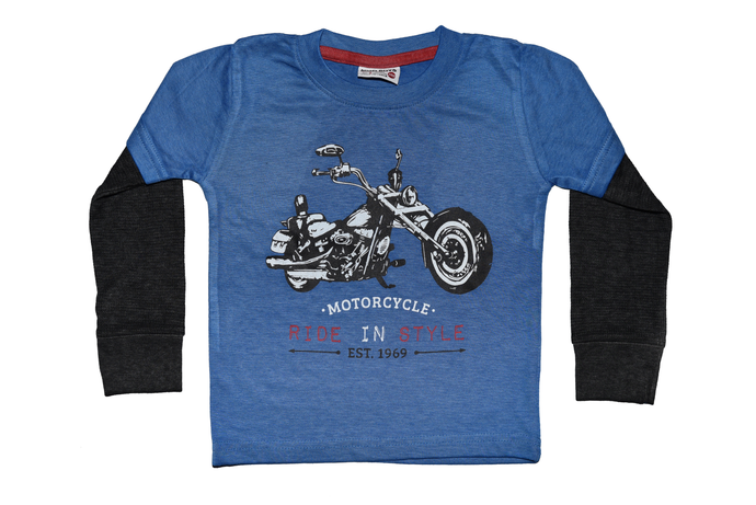 Boys Motorcycle Long Sleeved Shirt