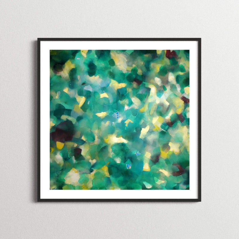 Teal Green Impressionist Artwork
