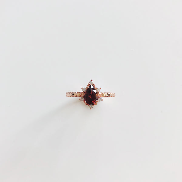 Red Garnet Ring 925 Sterling Silver | Bohemian Guru