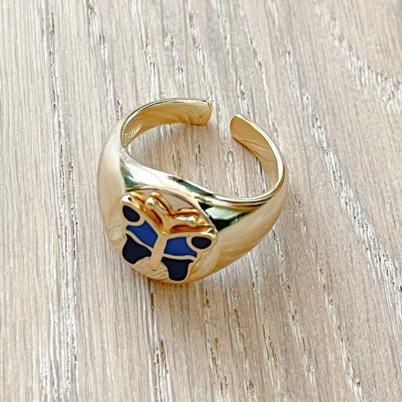 Aviva - Gold Plated & 925 Sterling Silver Ring