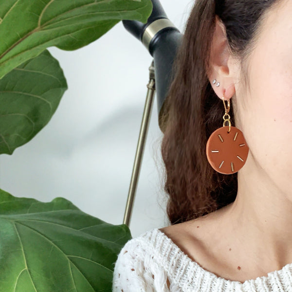 Terracotta Sparkle - Handmade Earrings