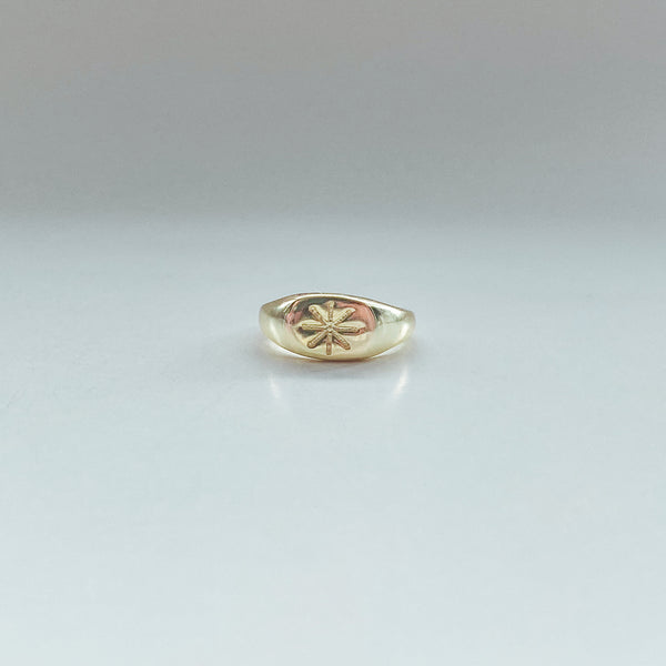 Golden Sun Ring - 925 Sterling Silver