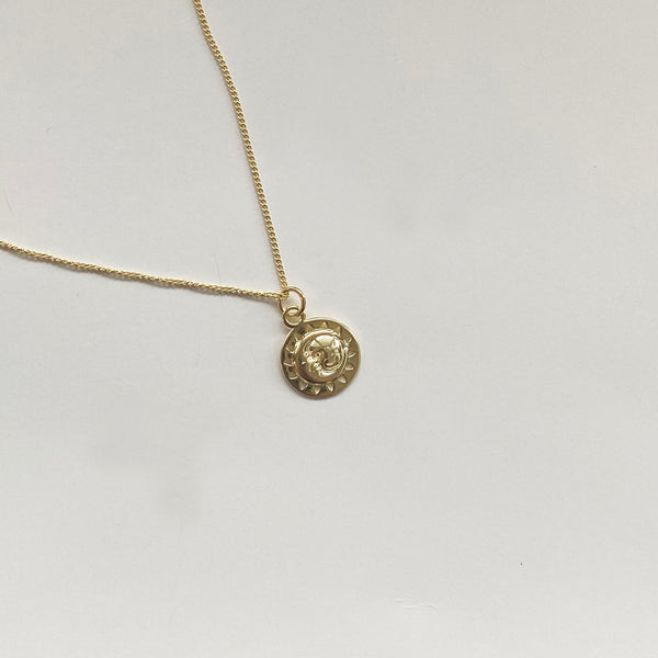 Sun Moon Necklace - 18K Gold Vermeil