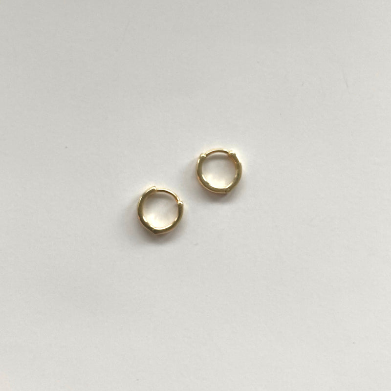 Mini Gold Hoops -18K Gold Vermeil