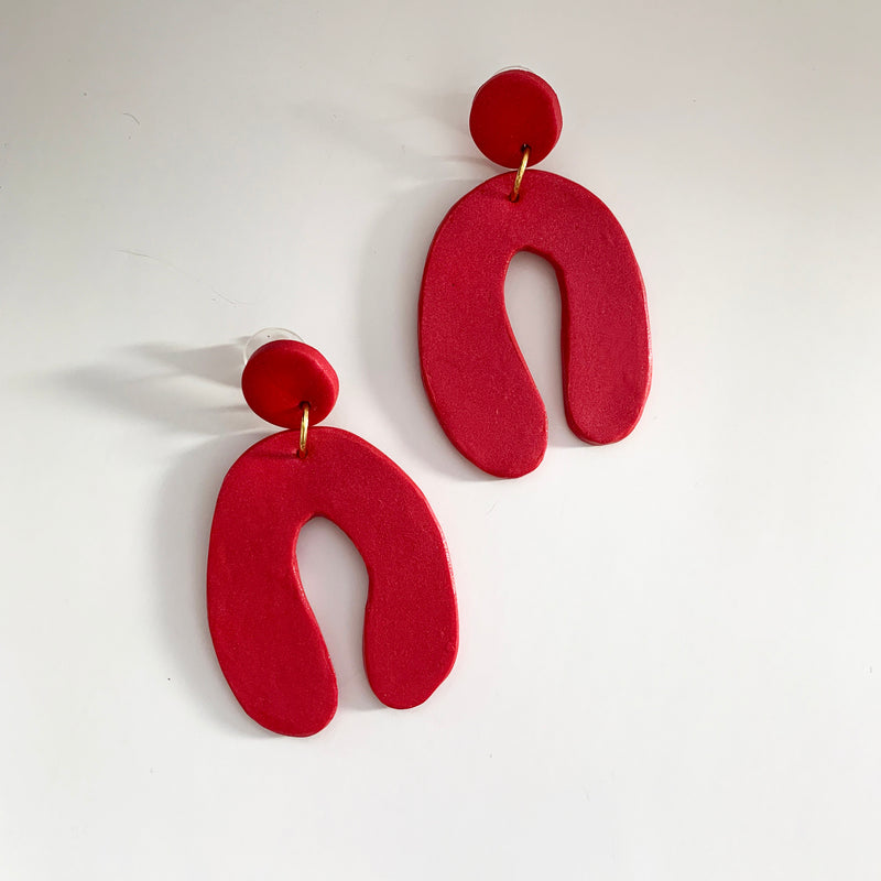 Bold Arch - Handmade Earrings