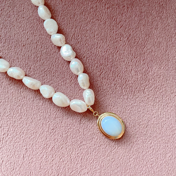 Fairy Pearl Choker Necklace - 925 Sterling Silver