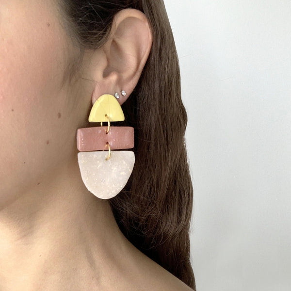 Pastel Glam Stack - Handmade Earrings
