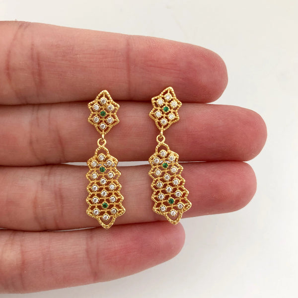 Luna Drop Earrings - 14K Gold Vermeil