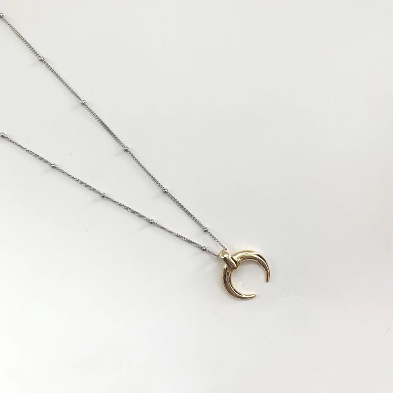 New Moon Necklace - 925 Sterling Silver