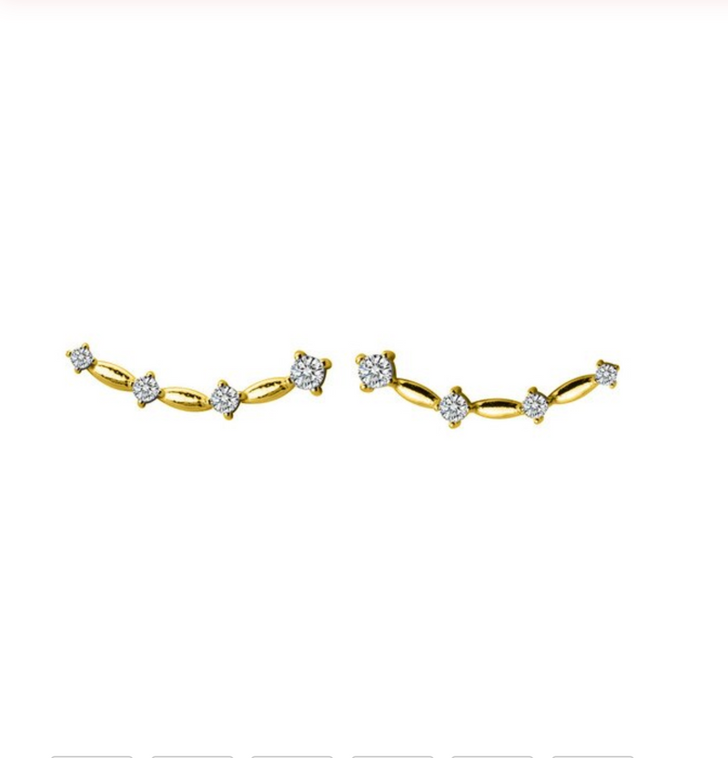 Gold Constellation Stud Earrings